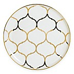 Nevaeh White® by Fitz and Floyd® Lattice Coupe Salad Plate in Gold