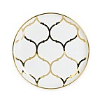 Nevaeh White® by Fitz and Floyd® Lattice Coupe Appetizer Plate in Gold