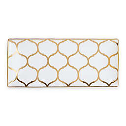 Nevaeh White® by Fitz and Floyd® Lattice Trinket Tray in Gold