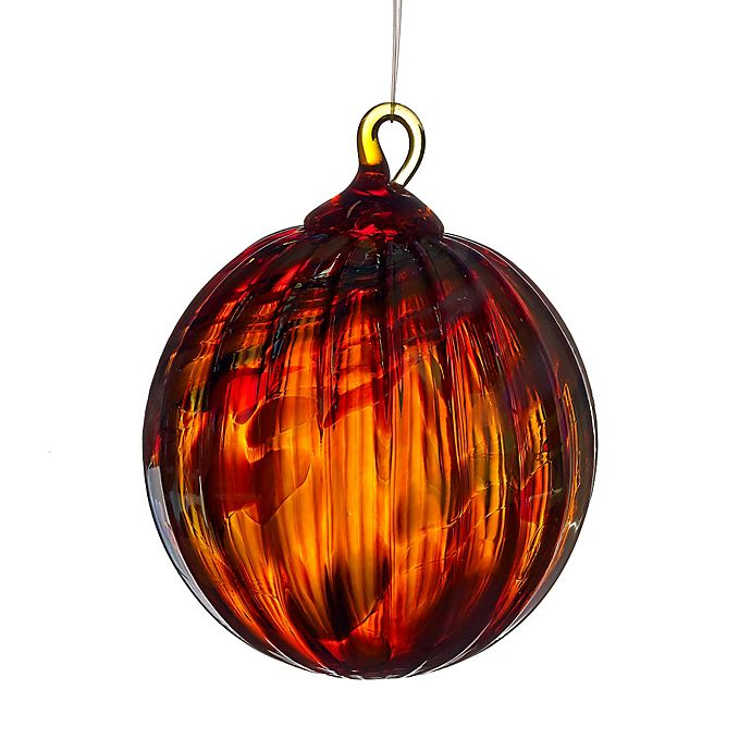 Alternate image 1 for Glass Eye Studio 3-Inch Hand Blown Glass Holiday Swirl Ornament