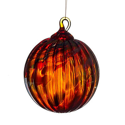 Glass Eye Studio 3-Inch Hand Blown Glass Holiday Swirl Ornament