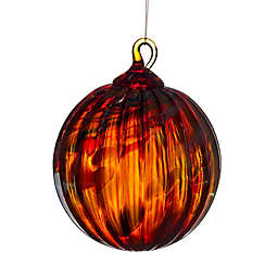 Glass Eye Studio 3-Inch Hand Blown Glass Holiday Swirl Ornament