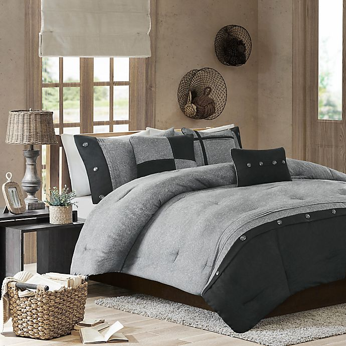 Alternate image 1 for Madison Park Boone 7-Piece Comforter Set in Grey