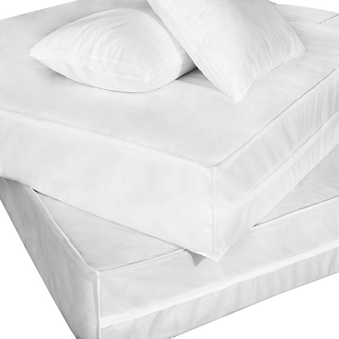 Alternate image 1 for Everfresh Bug Waterproof Twin XL Bed Protector Set