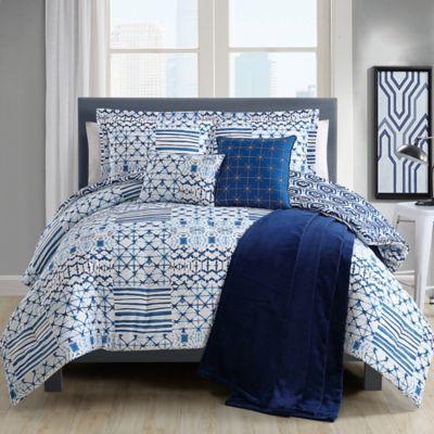 Kiko Comforter Set In Blue White Bed Bath Amp Beyond
