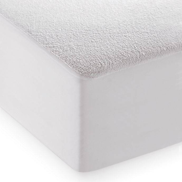 Alternate image 1 for dreamSERENE® Smooth Sleep Waterproof Terry King Mattress Protector