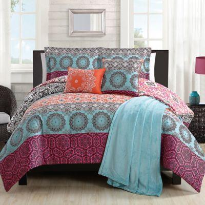Boho Chic Comforter Set In Orange Bed Bath Amp Beyond