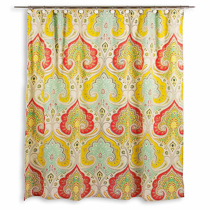 Echo DesignTM Jaipur Fabric Shower Curtain