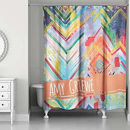 Eclectic Chevron Multicolored Shower Curtain