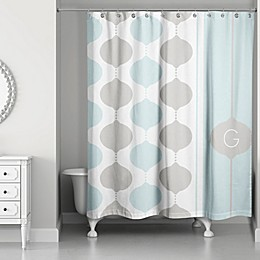 Quad Shower Curtain in Grey/Mint