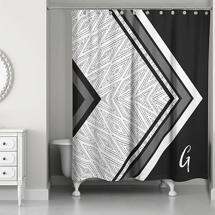 Alternate image 1 for Boho Tribal Custom Shower Curtain in Black/Grey/White