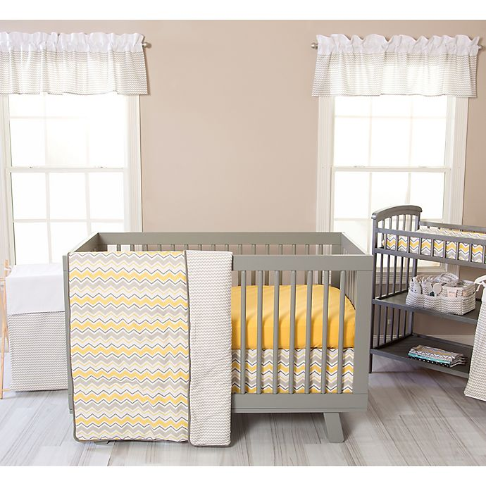 Alternate image 1 for Trend Lab® Buttercup Zigzag 3-Piece Crib Bedding Set