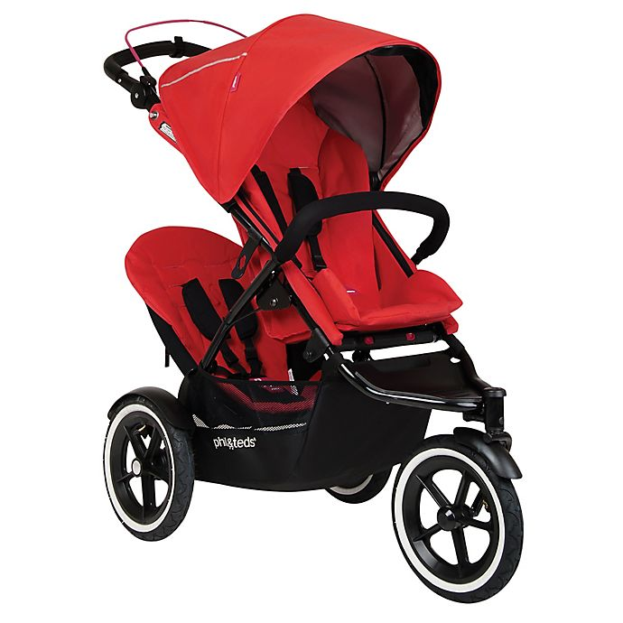Alternate image 1 for phil&teds® Sport™ Stroller with Double Kit in Cherry