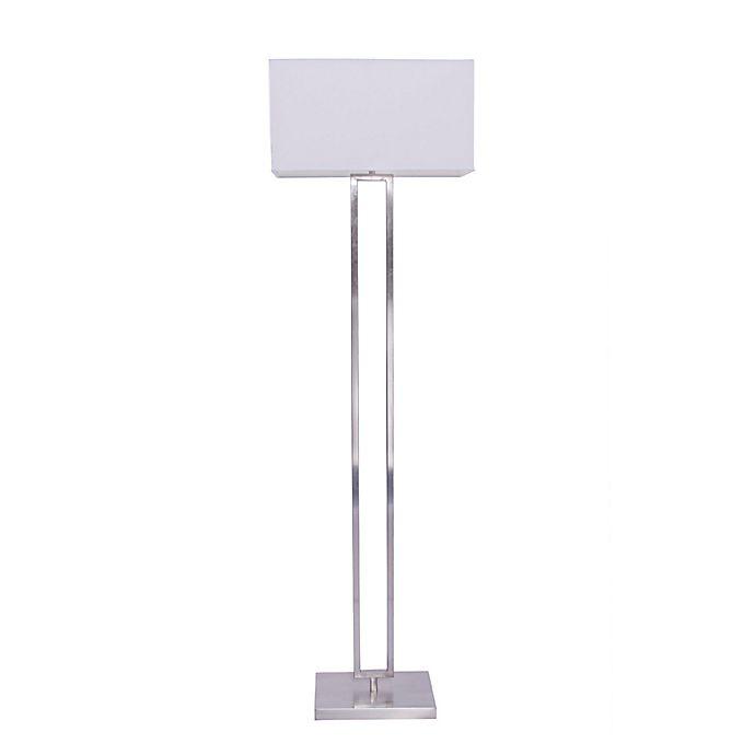 Modern Metal Floor Lamp: Buy Fangio Modern Metal Floor Lamp In Brushed Nickel From