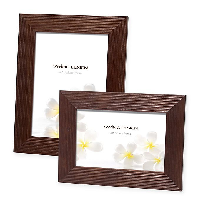 Alternate image 1 for Swing Design™ Linia Wood Picture Frame in Espresso