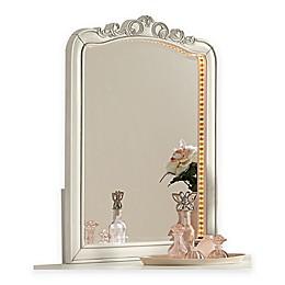 Hillsdale Kids and Teen Kensington Lighted Vanity Dresser Mirror in Antique Silver