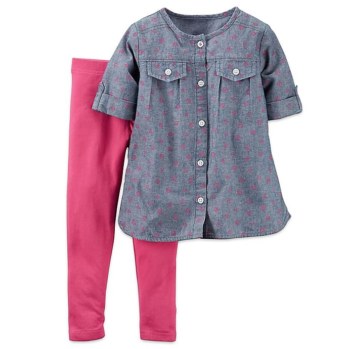 00e2309cfa carter's® 2-Piece Chambray Top and Legging Set | buybuy BABY