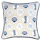 The Ropes Reversible Square Indoor Throw Pillow in Blue