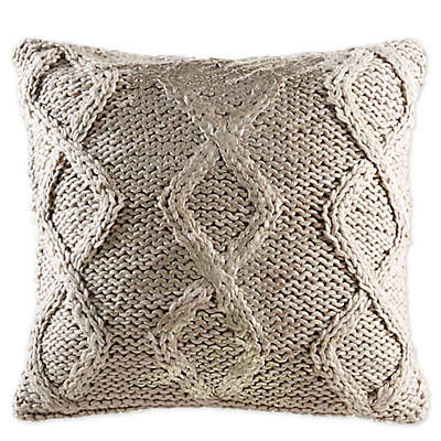 KAS Room Nola 18-Inch x 18-Inch Ivory Decorative Pillow