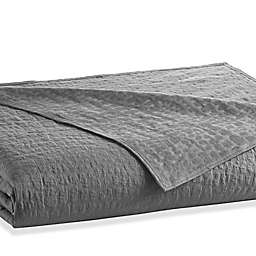 kate spade new york Alligator Coverlet in Charcoal
