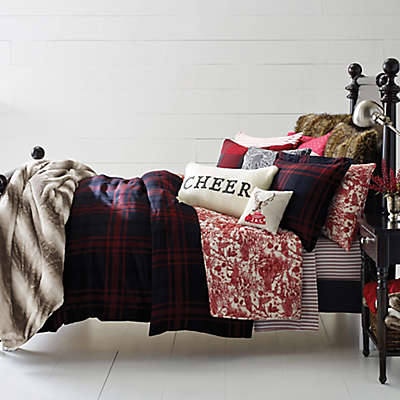 Cozy Merry Plaid Duvet Cover Set