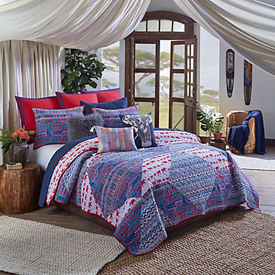 Blissliving® Home Kambiya Quilt Set in Blue