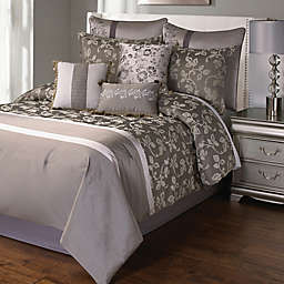 Heston Comforter Set in Platinum