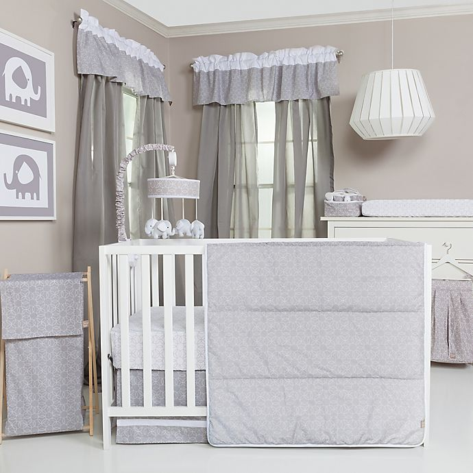 Alternate image 1 for Trend Lab® Grey and White Circles Crib Bedding