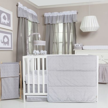 Trend Lab 174 Grey And White Circles Crib Bedding Buybuy Baby