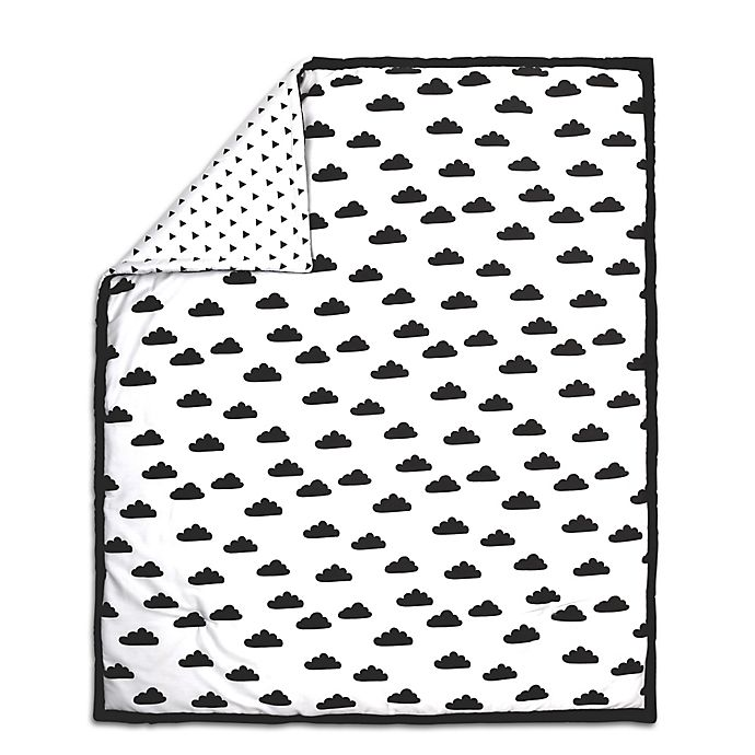 Alternate image 1 for The Peanut Shell® Cloud Quilt in Black/White
