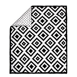 The Peanut Shell® Tile Quilt in Black/White