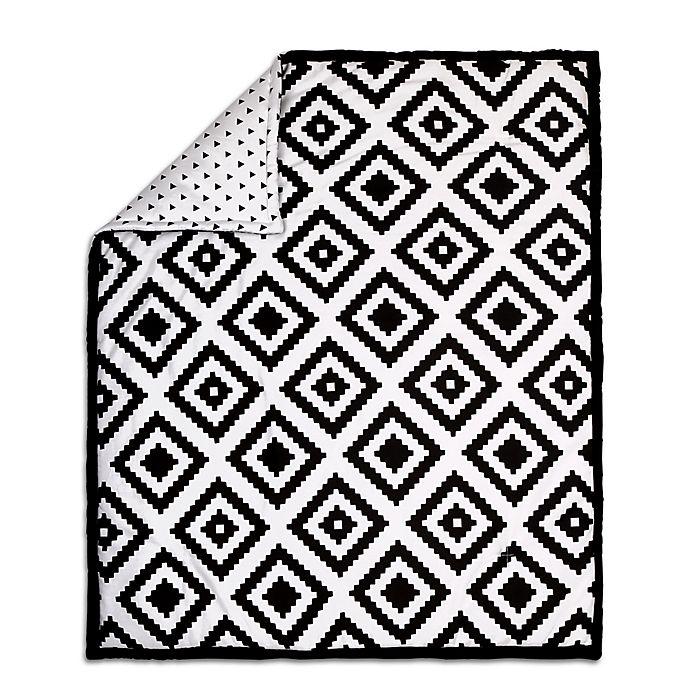 Alternate image 1 for The Peanut Shell® Tile Quilt in Black/White