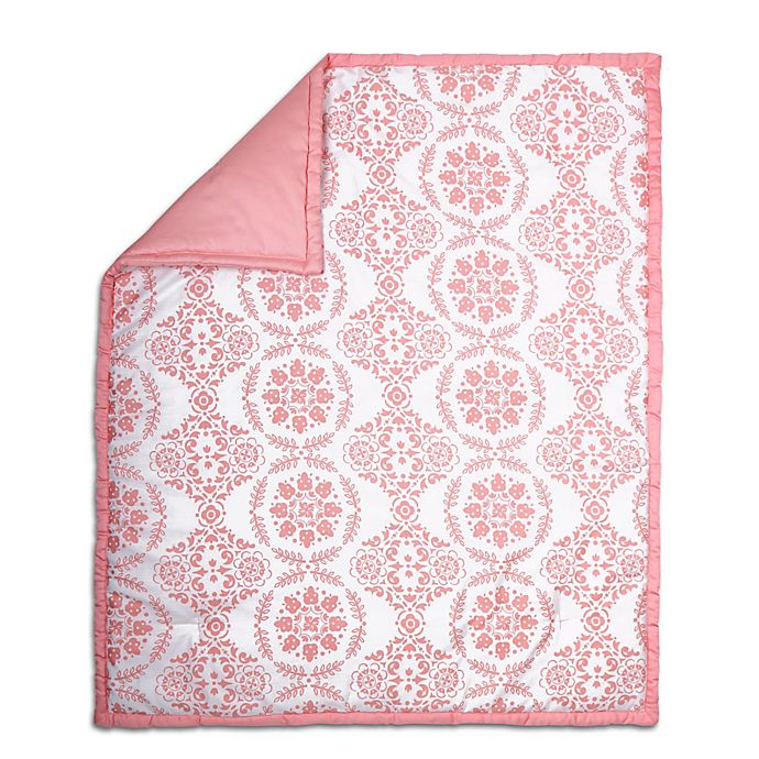 The Peanut Shell Medallion Quilt In Coral Buybuy Baby