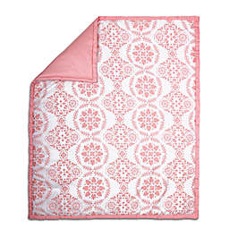 The Peanut Shell® Medallion Quilt in Coral
