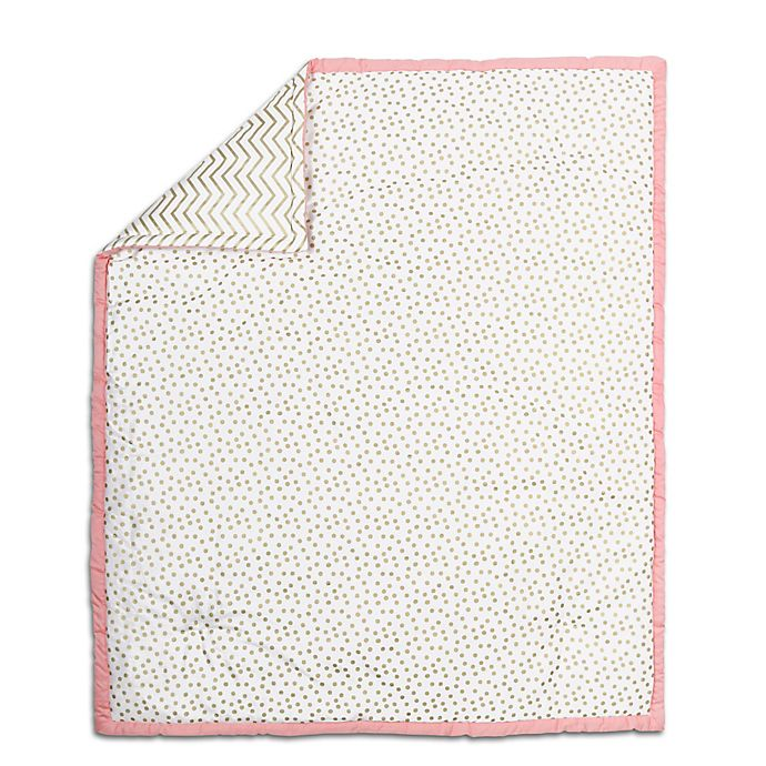 Alternate image 1 for The Peanut Shell® Confetti Quilt in Coral/Gold