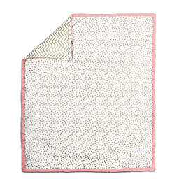 The Peanut Shell® Confetti Quilt in Coral/Gold