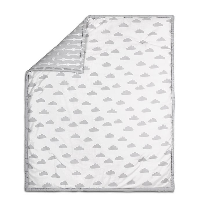 Alternate image 1 for The Peanut Shell® Cloud Quilt in Grey