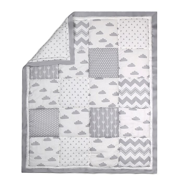 Alternate image 1 for The Peanut Shell® Cloud Patchwork Quilt in Grey