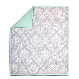 The Peanut Shell® Damask Quilt in Mint/Grey