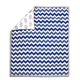 The Peanut Shell® Chevron Quilt in Navy/Grey