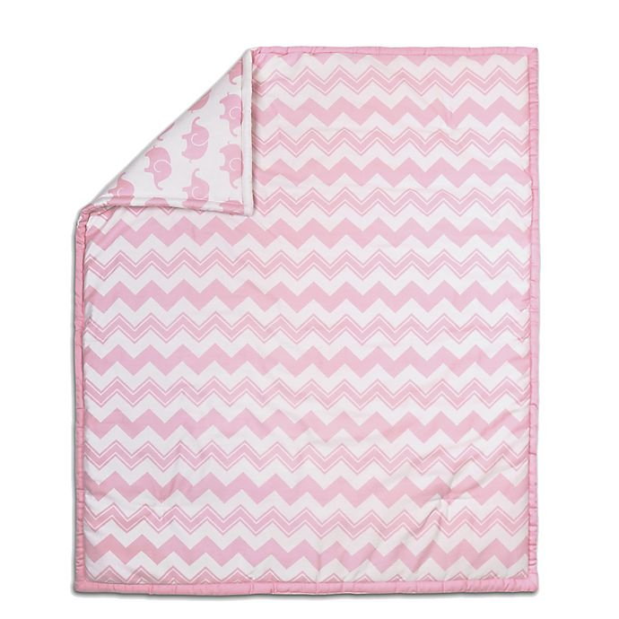 Alternate image 1 for The Peanut Shell® Chevron Quilt in Pink
