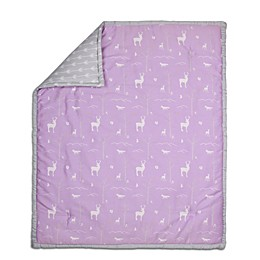 The Peanut Shell® Woodland Quilt in Purple/Grey