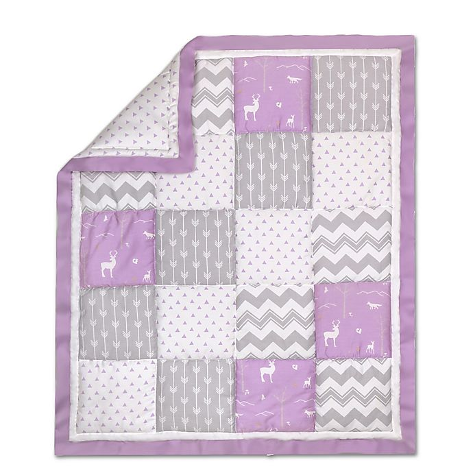 Alternate image 1 for The Peanut Shell® Woodland Patchwork Quilt in Purple/Grey