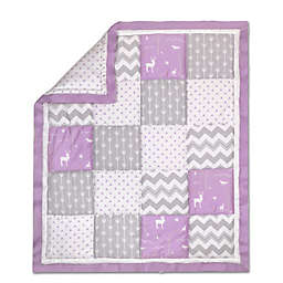 The Peanut Shell® Woodland Patchwork Quilt in Purple/Grey