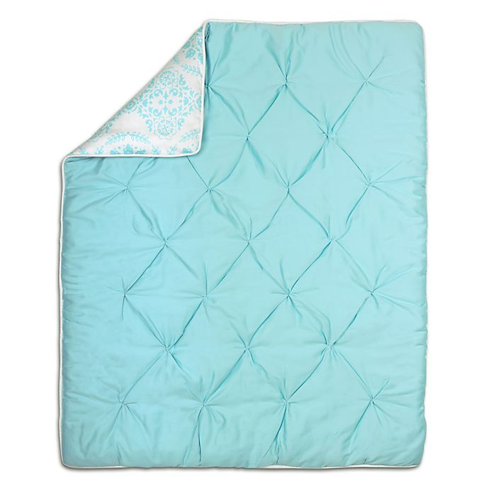 Alternate image 1 for The Peanut Shell® Pintucked Quilt in Teal