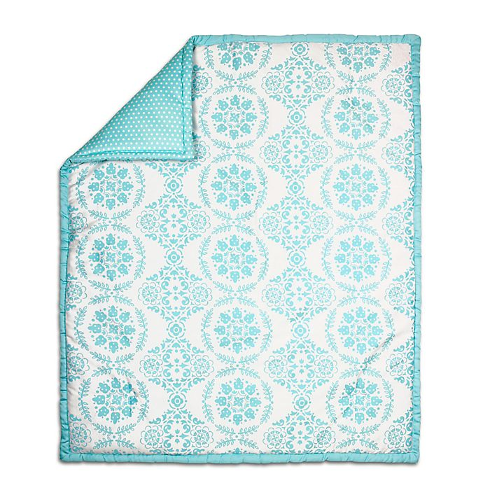 Alternate image 1 for The Peanut Shell® Medallion Quilt in Teal
