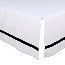 The Peanutshell™ Crib Skirt in Black/White