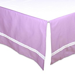 The Peanut Shell® Solid Crib Skirt in Purple