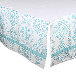 The Peanut Shell® Medallion Crib Skirt in Teal