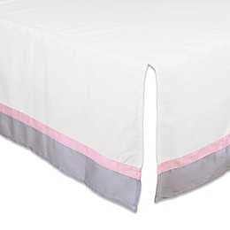 The Peanutshell™  Crib Skirt in Pink/Grey